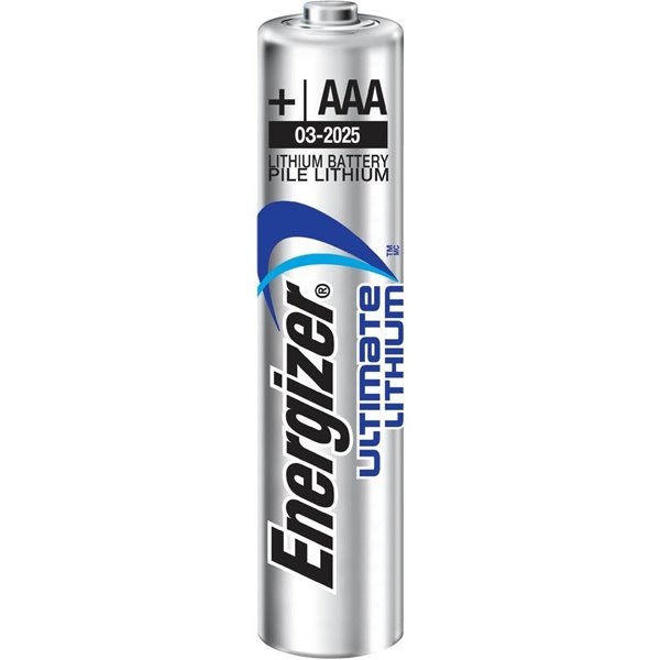 AAA Energizer Ultrimate Lithium Battery AAA PK4