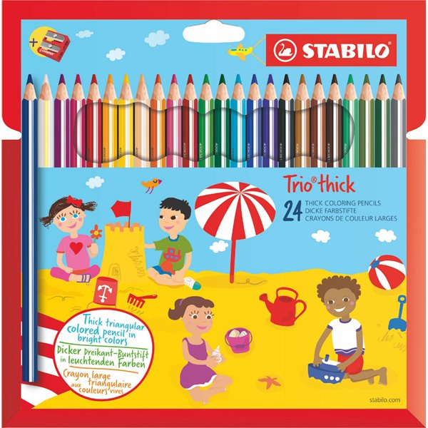 Colouring / Drawing Pencils Stabilo Trio Thick Colouring Pencils PK24