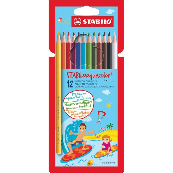 Colouring / Drawing Pencils Stabilo Aquacolor Water Colour Pencils PK12