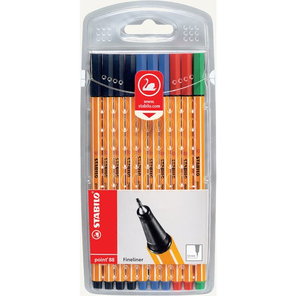Stabilo Point 88 Fineliner Office Colours PK10