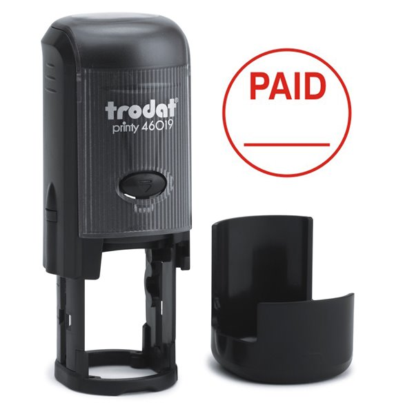 Stamps Trodat Printy 46019 Word Stamp Self Inking Red PAID