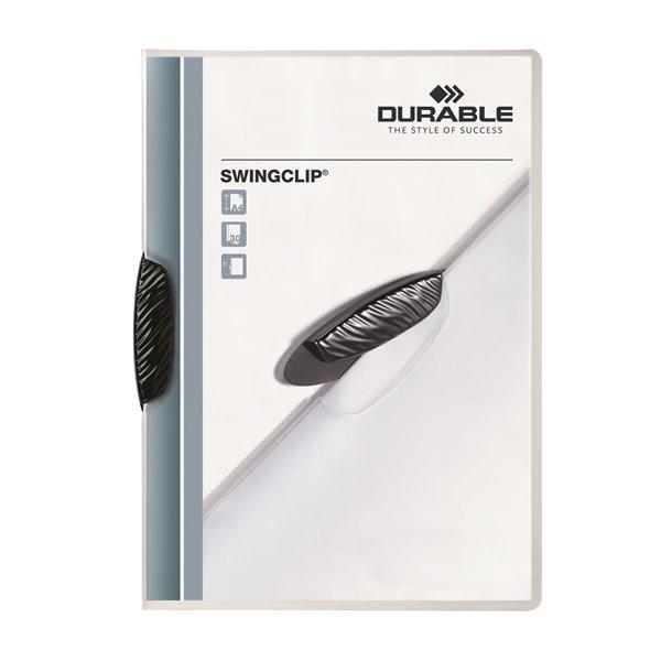 Clip Files Durable Swingclip Report Folder 30 Shts A4 Blk 226001 (PK25)