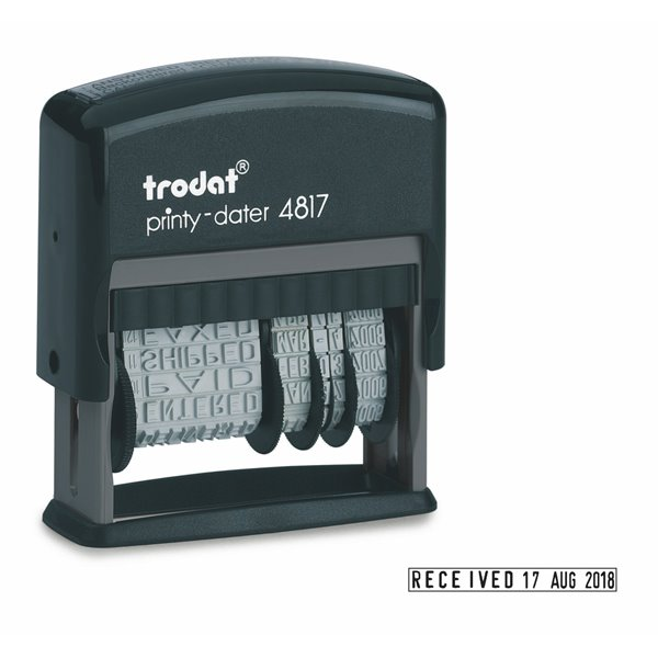 Stamps Trodat Printy 4817 Dial-A-Phrase Self-inking Stamp (Black)