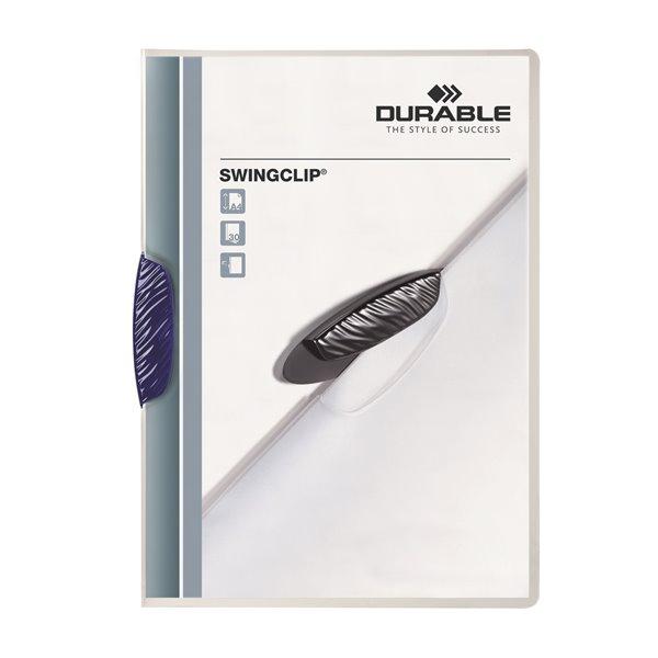 Clip Files Durable Swingclip Report Folder 30 Shts A4 Blu 226007 (PK25)