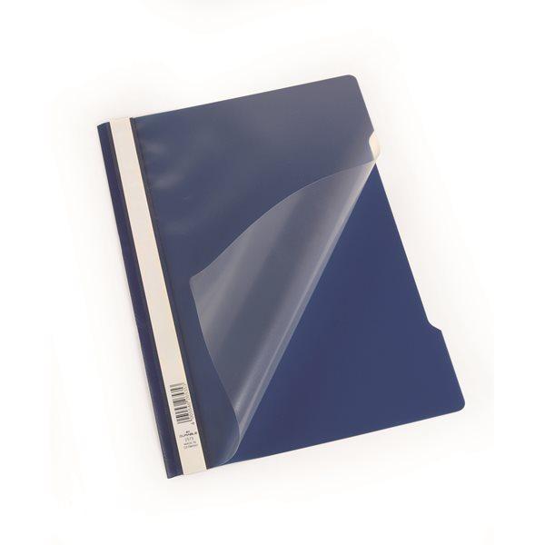 Durable Polyprop Clear View Folder A4 DarkBlue 257307 (PK50)