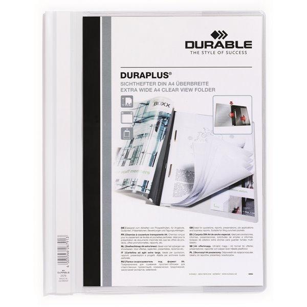 Durable Duraplus Report Folder ExWide A4 White 257902 (PK25)