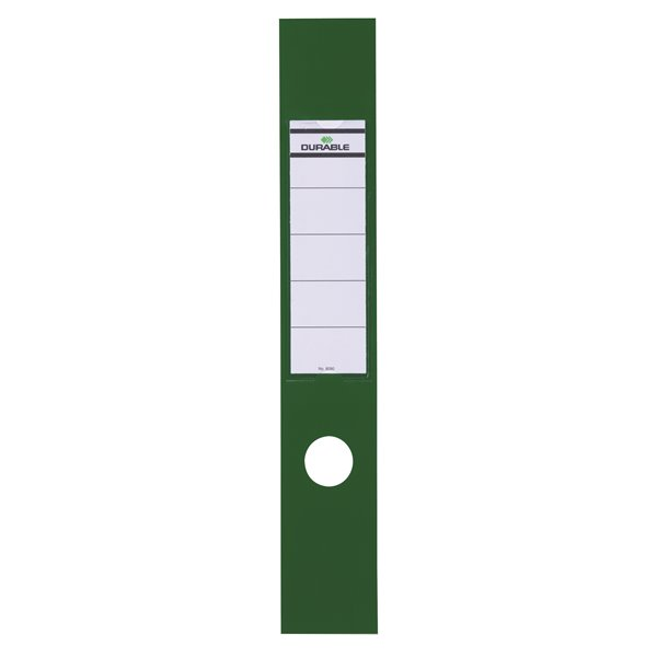 Ordofix Lever Arch Spine Labels PVC 60 x 390mm Green (PK10)