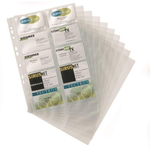 Refills Durable Visifix Refill for A4 Bus Card Album (2388) PK10