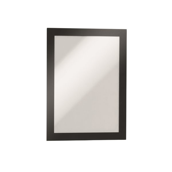 Sign Holders Durable Magaframe Self Adhesive A5 Black 487101 (PK2)