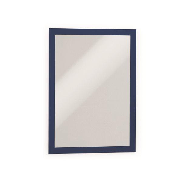 Sign Holders Durable Magaframe Self Adhesive A4 Blue 487207 (PK2)