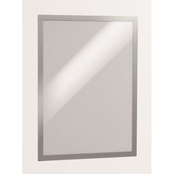 Durable Magaframe Self Adhesive A3 Silver 487323 (PK2)