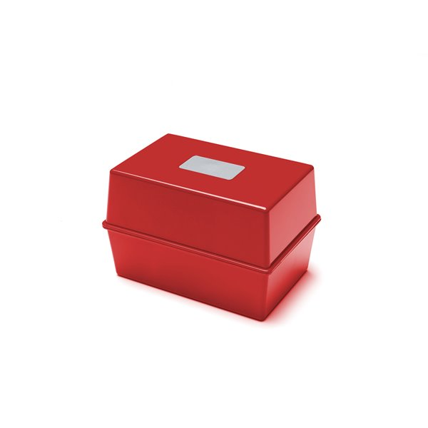 Storage Value Value Deflecto Card Index Box 5x3 Red CP010YTRED