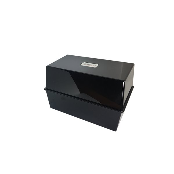 Storage Value Deflecto Card Index Box 8x5 Black