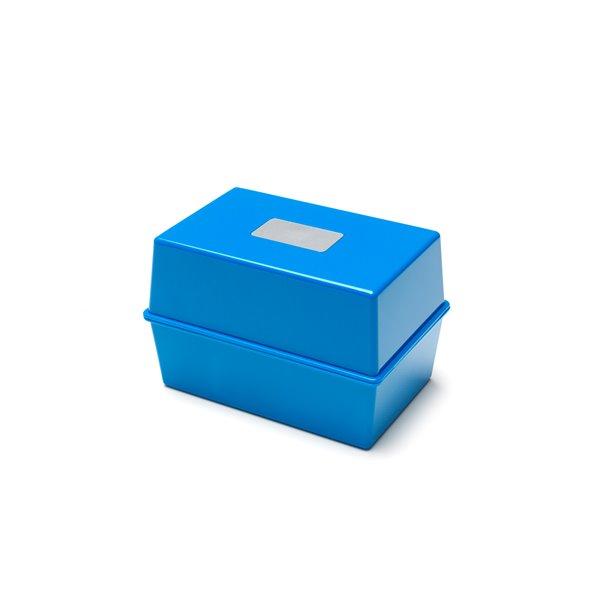 Storage Value Deflecto Card Index Box 8x5 Blue