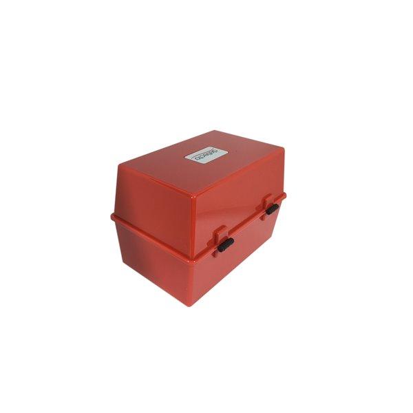 Value Deflecto Card Index Box 8x5 Red
