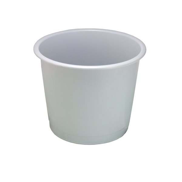 Value Deflecto 14L Plastic Waste Bin Grey