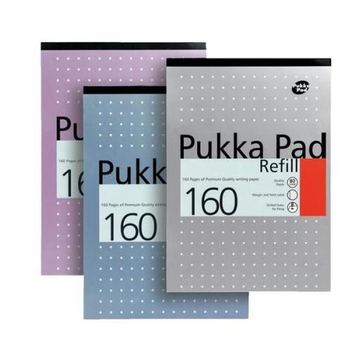 Refill Pads Pukka Pad A4 Refill Pad 160 Pages White PK6