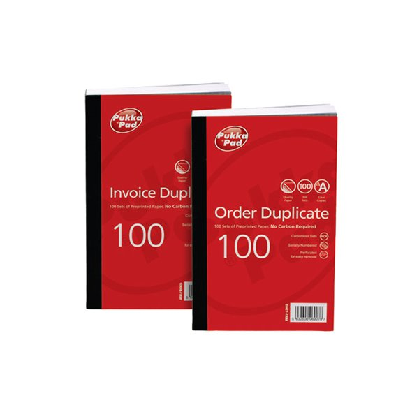 Duplicate Value Duplicate Invoice Book PrePrinted VAT 210x130mm PK5