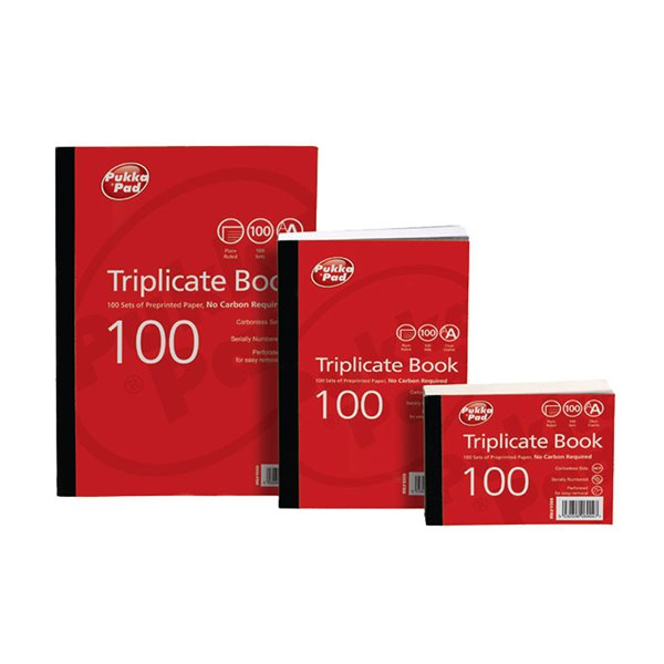 Triplicate Value Triplicate Book Plain Ruled 216x130mm PK5