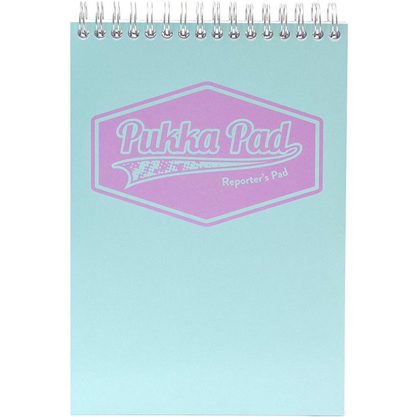 Spiral Note Books Pukka Pastel Reporters Notebook Blue/Pink/Mint PK3