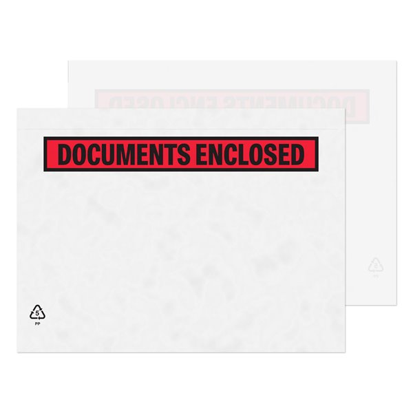 Document Enclosed Wallets Purely packaging C5 PrintedDocument Enclosed Wallet PK1000