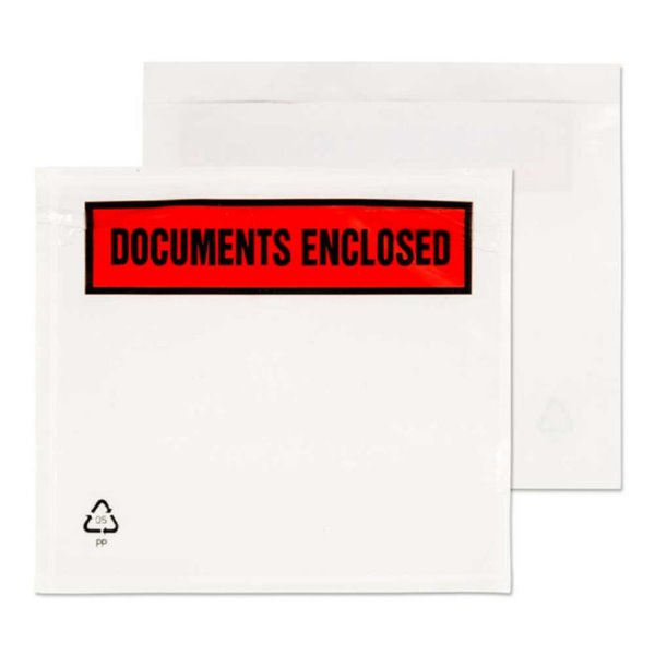 Documents Enclosed Blake A7 123X111Mm Printed Document Enclosed Wallet Pk1000