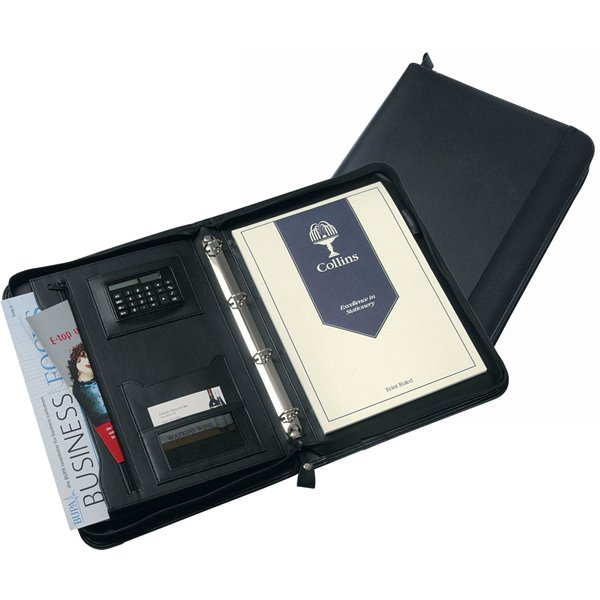 Potfolios Collins Conference Ring Binder with Calculator Zipped 5090