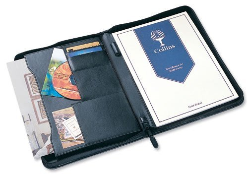 Potfolios Collins Conference Portfolio with Zip Black 7018