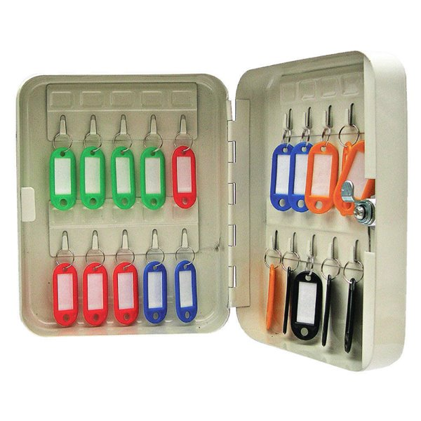 Value Key Cabinet Steel GY Lock and Wall Fixings 20 Keys