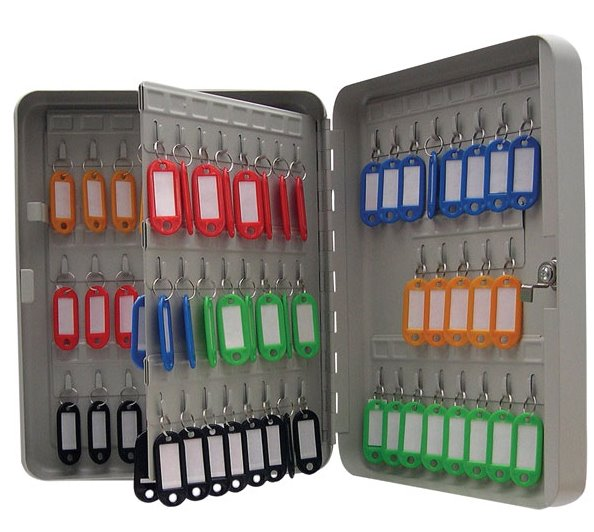 Key Cabinets Value Key Cabinet Steel GY Lockable Fixings 93 Keys