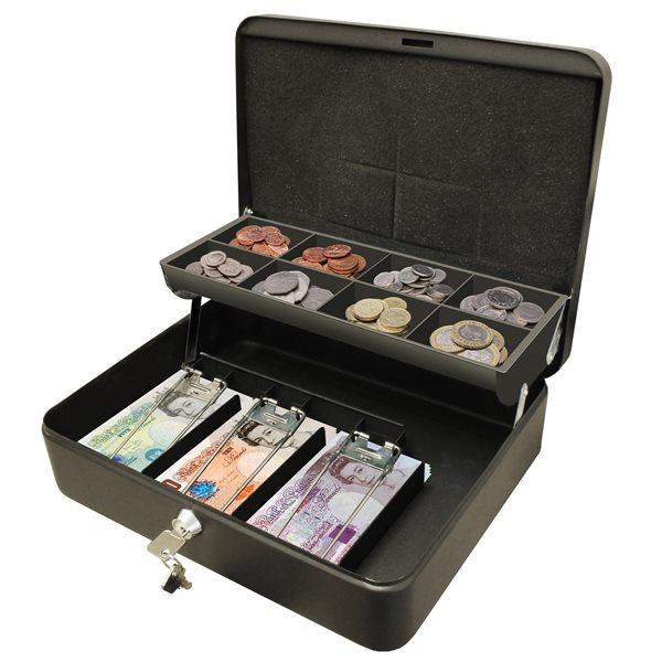 Ash Bins Cathedral Cash Box Black Ultimate 12in