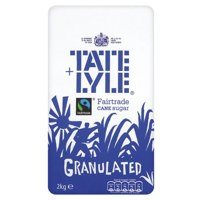 Sugar / Sweetener Tate & Lyle Granulated Pure Cane Sugar Bag 2kg