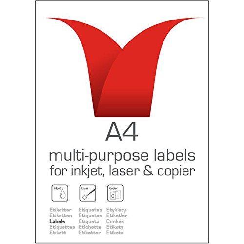 Stampiton A4 White Labels 12 Per Sheet 63.5x72 100 Sheets