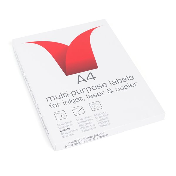Value Multipurpose Label 103x292mm 2 per Sheet PK100