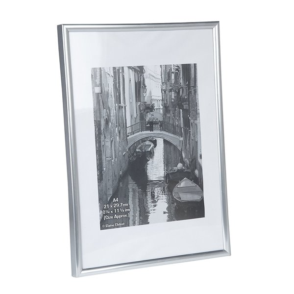 Photo Album Co A4 Certificate Frame Plastic Silver