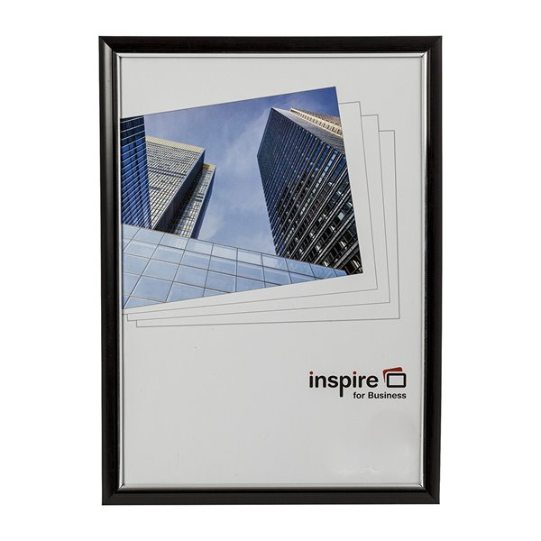 Inspire For Business Certificate A4 Back Loader Black Frame