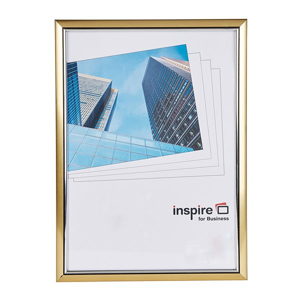 Certificate / Photo Frames Inspire For Business Certificate A4 Back Loader Gold Frame
