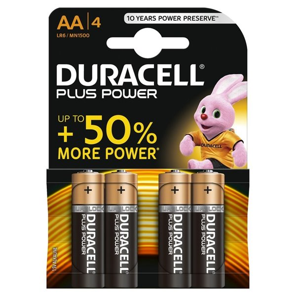 Duracell AA Plus Batteries PK4