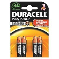 Duracell AAA Plus Batteries PK4