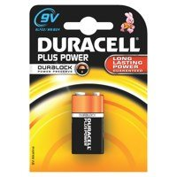 9V Duracell 9V Plus Batteries PK1