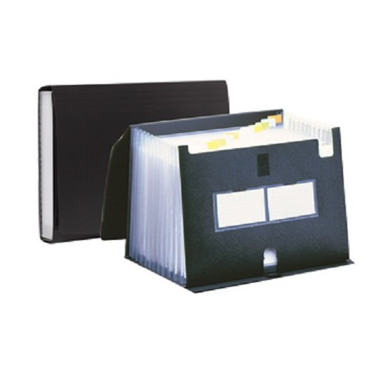 Expanding Files Pentel Polypropylene Expanding File 13 Pockets Black