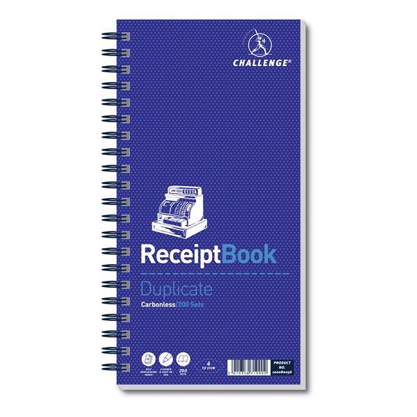 Challenge 280x141mm  Receipt Book PK1