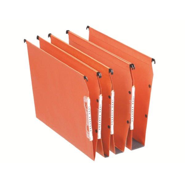 Lateral Files Esselte Orgarex Lateral File V-Base A4 Orange 21627 (PK25)