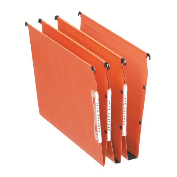 Lateral Files Esselte Orgarex Lateral File 15mm Base A4 Ornge 21628 (PK25)