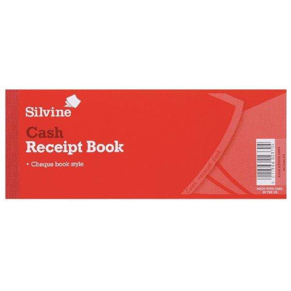 Silvine Receipt Book 80x202mm PK36
