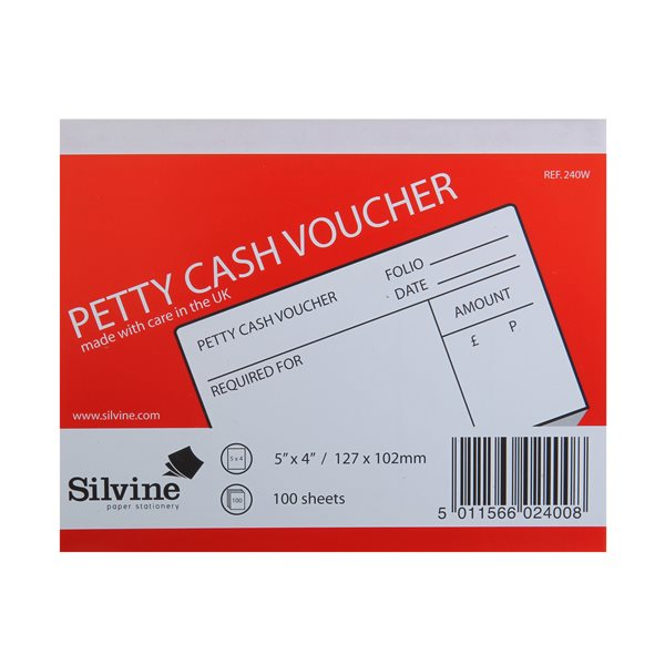 Petty Cash Pad 5x4in PK24