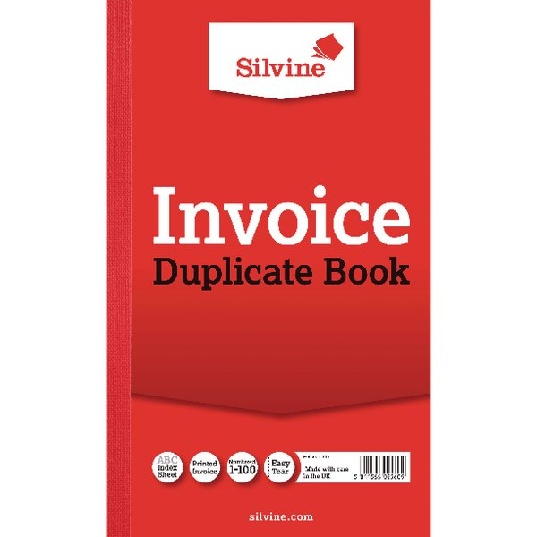 Duplicate Silvine Duplicate Book Ruled 8x5in PK6