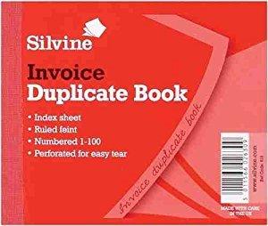 Silvine Dupl Invoice Book 102x127mm Pk12