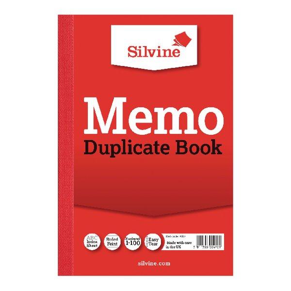 Silvine Duplicate Memo Book 152x102mm PK12