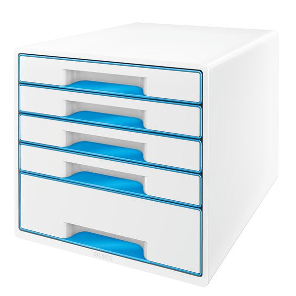 Drawers Leitz Wow Cube 5 Drawer Blue